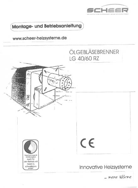 Bedienungsanleitung Thermo Nox Brenner