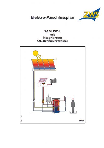 E-Plan zu Sanusol mit Ölbrennwertgerät für schwefelarmes Heizöl