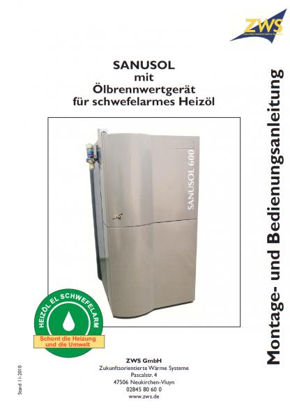 Montage- und Bedienungsanleitung Sanusol mit Öl-Brennwert